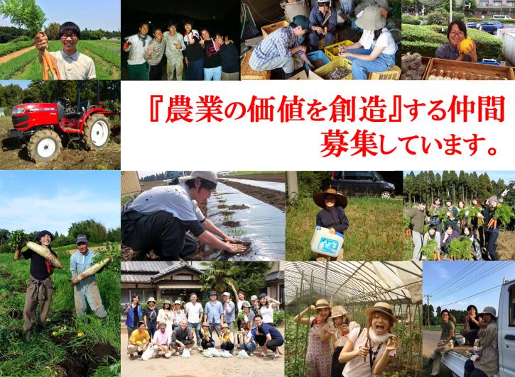 農業の価値を創造する仲間を募集しています。